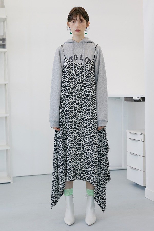 Falun Wing Chiffon Dress_Whale Grey (3차 리오더)